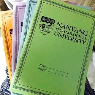 NTU lined notebook