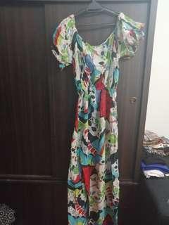 Cotton Floral Long Dress