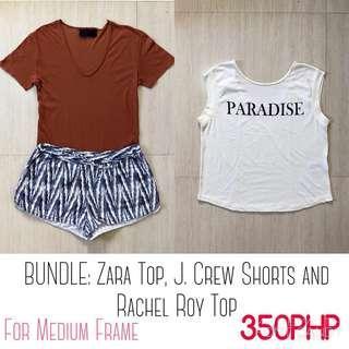 BUNDLE: Zara Top, Rachel Roy, and J. Crew Shorts