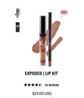 Brand New! Kylie Lipkit (Matte Lipstick & Lip Liner) in Exposed