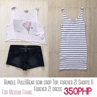 BUNDLE: Pull&Bear, Forever 21 Shorts and Forever 21 Dress