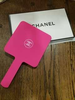 Chanel Pink Fuschia Handheld Mirror