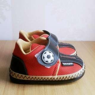Sepatu Anak Balita Ukuran 24 / Sepatu Bayi 1-2 Tahun Merah Bola Sporty Murah Laki Perempuan