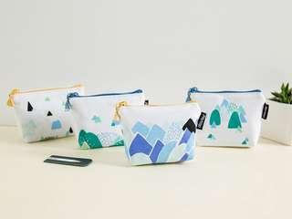 Japan Style Mountain Canvas Coin Pouch