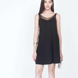 <Fayth> Mandy Pocket Slip Dress in Black XS
