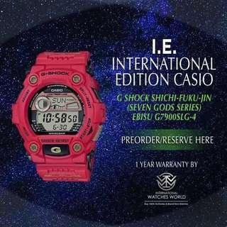 CASIO INTERNATIONAL EDITION G SHOCK SEVEN LUCKY GOD SERIES EBISU G-7900SLG-4 LIMITED