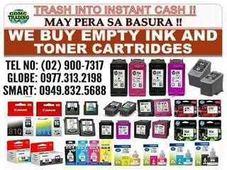 WE BUY EXPIRED BNEW & EMPTY INK AND TONER CARTRIDGES
