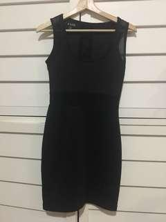 Cute glamazon black dress mesh detail