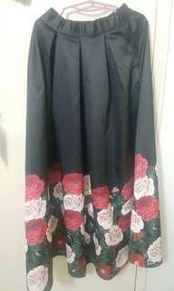 Flowery Long Skirt
