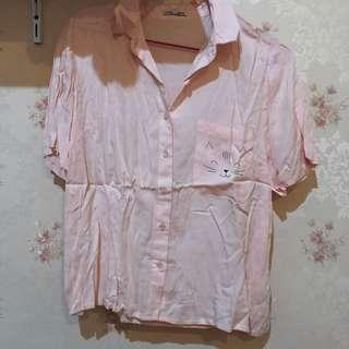 COLORBOX Pink Pastel Cat Shirt