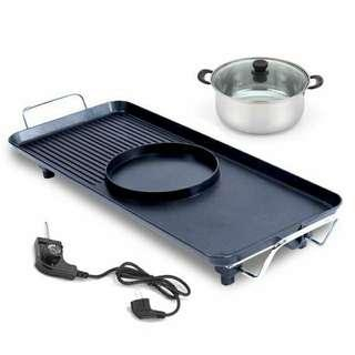 Two Sided 2 in 1 Electrical Grill & Steamboat
