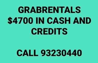 $40/DAY GRAB RENTAL PARTNER ENJOY CAR REBATE CALL 93230440