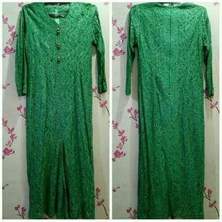 Kebaya dress hijau 55freong
