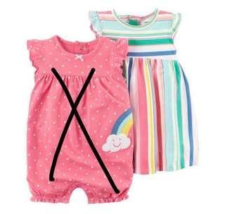 [Brand New] (24M) Carters 3 Piece Dress & Romper Set