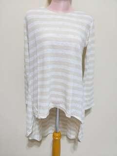 Baju garis cream