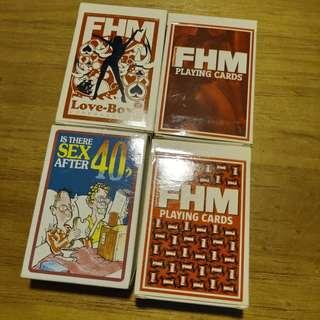 "FHM and ""Is there sex after 40"" Poker Cards"