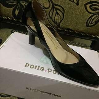 Polla Polly Black Heels