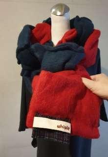 🚚 whiple羊毛造型圍巾
