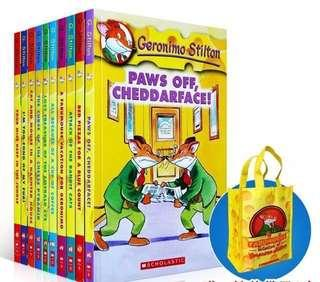 🔥Geronimo Stilton 11-20 box/bag