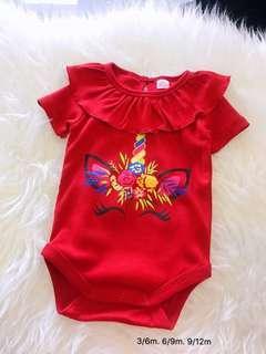 Girl baby romper unicorn
