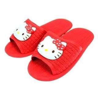 🚚 正版授權 韓國 三麗鷗 HELLO KITTY 凱蒂貓 紅色大臉款 浴室拖 室內拖 拖鞋