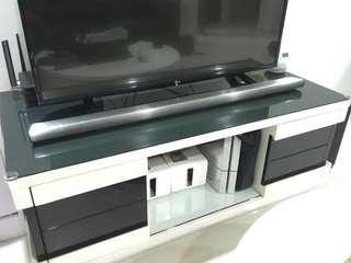 TV Console Cabinet Stand Glossy White Black