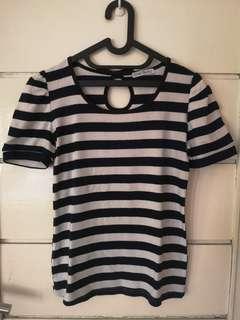 Navy stripe tops