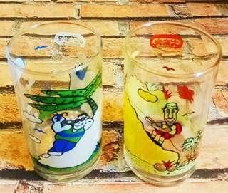 罕有绝版:大家樂纪念版破璃杯2隻 (歲月收藏品)