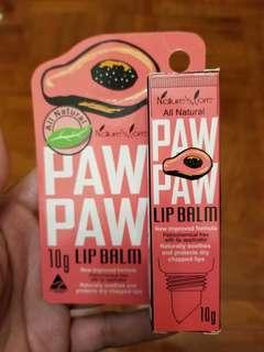 包平郵澳洲產Natural's Care Paw Paw Lip Balm 10g天然木瓜潤唇膏10g
