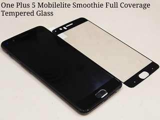 🚚 One Plus 5 Mobilelite Smoothie Full Coverage Tempered Glass