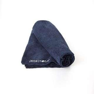 Jade Yoga Microfiber Mat Towel, Midnight Blue