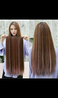Instock ombre two tone dip dye straight clip on hair extension*brand new in package*chat to buy if int