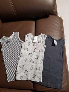 3-pcs sleeveless top