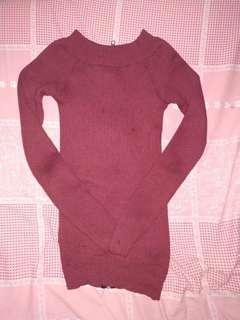 Baju panjang Lucu bisa dipakai model sabrina