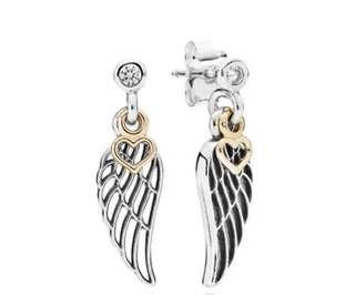 Pandora Angel Wings earrings