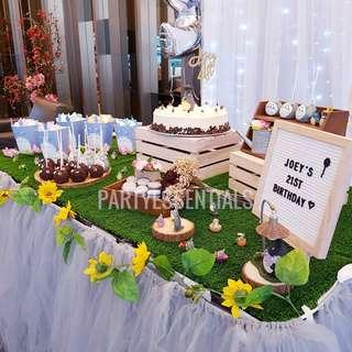 Rustic Totoro Themed Birthday Set Up 💐