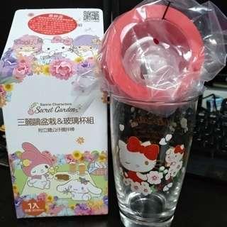 [limited edition] hello Kitty glass mug pig year edition