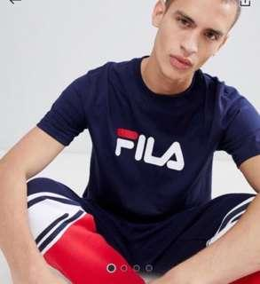 Authentic Navy Fila Shirt