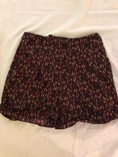 American apparel vintage fit silk shorts