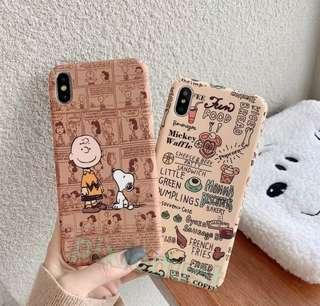 snoopy and charlie brown couple phone casing