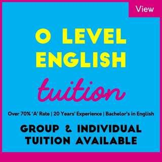 O Level English Tuition