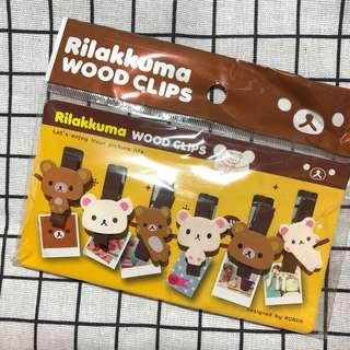 Rilakkuma wood clips