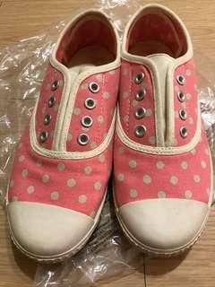 英國Cath Kidston粉紅白點休閒鞋
