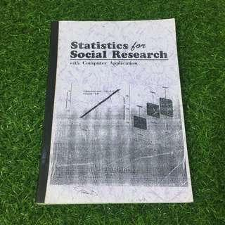 Statistics for social Research with Computer Application