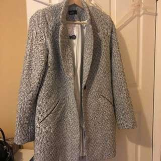 Coat - grey textured BRAND NEW