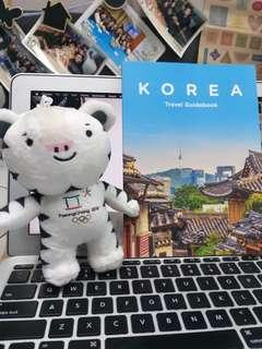 Korea Travel Guide Book w/ limited edition PyeongChang 2018 toy