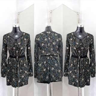 Zara cotton floral romper