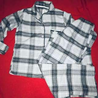 Debenhams Ladies Pyjamas, flannel with silver trimming size S hardly used