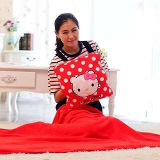 Fast deal - Hello Kitty Blanket Cushion with Handwarmer
