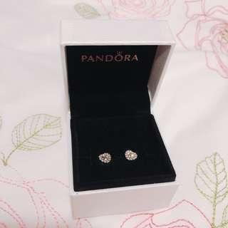 Pandora Open Heart Silver Stud Earrings